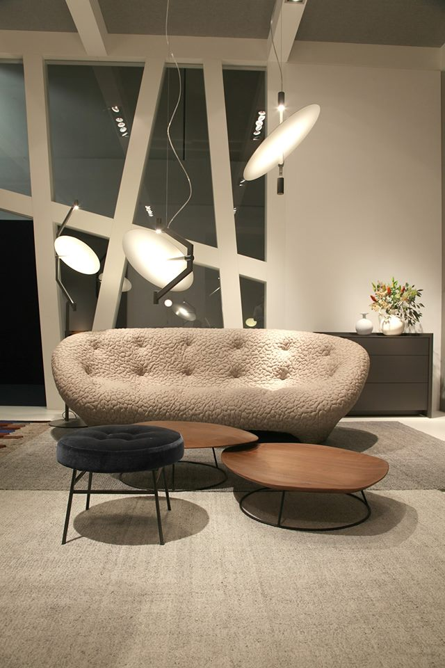 Ligne Roset's booth from the IMM Cologne furniture fair-2017