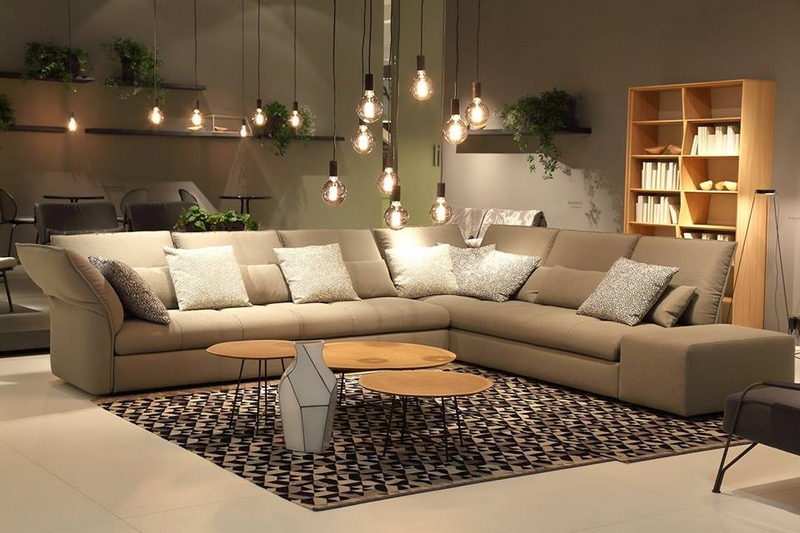 Ligne Roset's booth from the IMM Cologne furniture fair