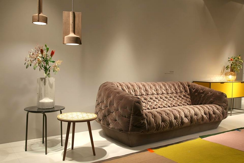 Ligne Roset's booth from the IMM Cologne furniture fair2017