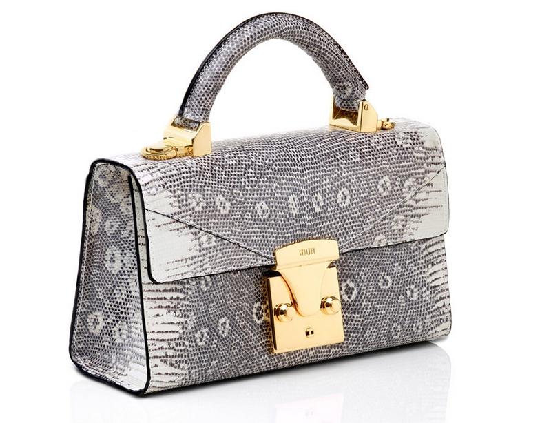 Lizard Mini Top Handle Tote Handbag by STALVEY