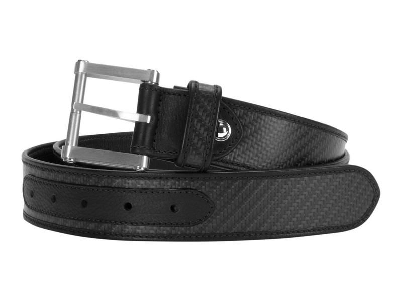 Londono Carbon Fiber & Leather Tank Belt - Black