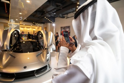 The world's most powerful series production road car debuts in Dubai