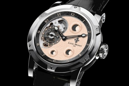 Astral composition: Metropolis for Only Watch 2017 with lunar meteorite fragments