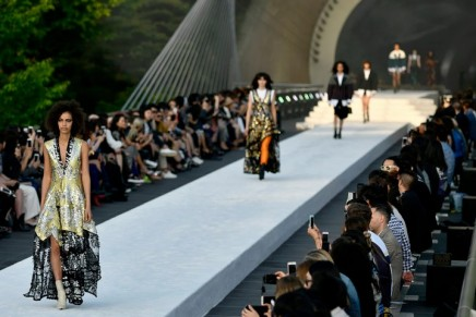 Louis Vuitton stages flamboyant cruise show in Japanese mountains