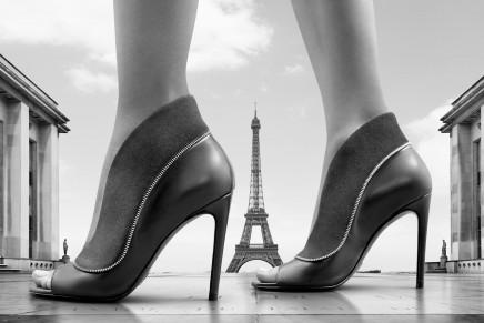 Louis Vuitton Zip shoes across Paris