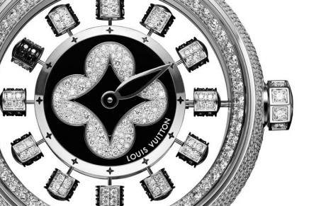A fun way of reading the time: Louis Vuitton Tambour Spin Time Air Paved dressed in new finery