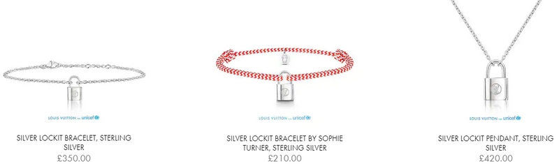 Louis Vuitton Unicef 2018 project-a New Silver Lockit Bracelet to Help Children at Risk-