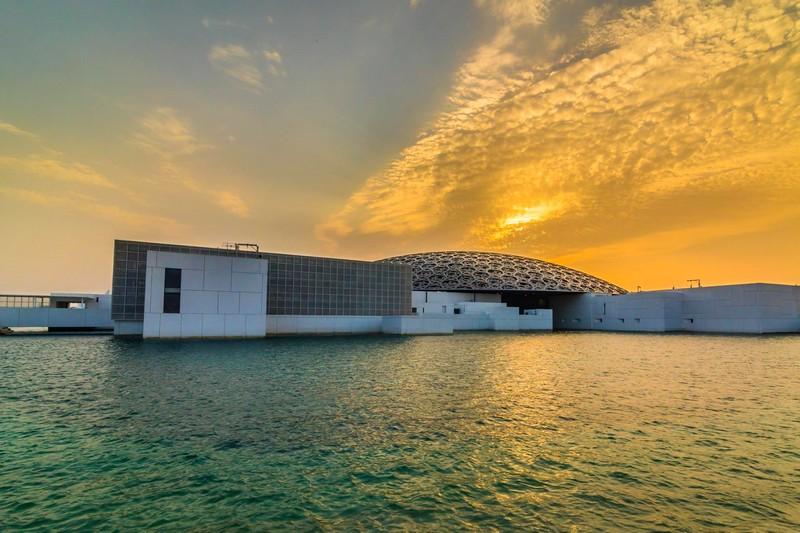 Louvre Abu Dhabi sunset