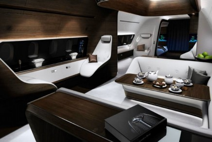 Lufthansa Private Jet Cabin Inspired by AMG takes luxury jet cabins to new heights