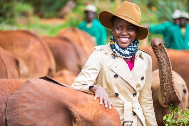 Lupita Nyongo as a WildAid Global Elephant Ambassador-