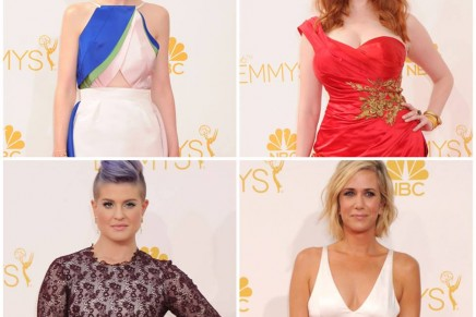 Gold jewellery regal at Emmy Awards 2014