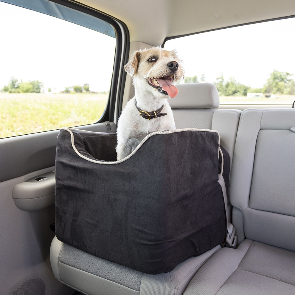 Luxury Lookout I Dog Car Seat With Microsuede