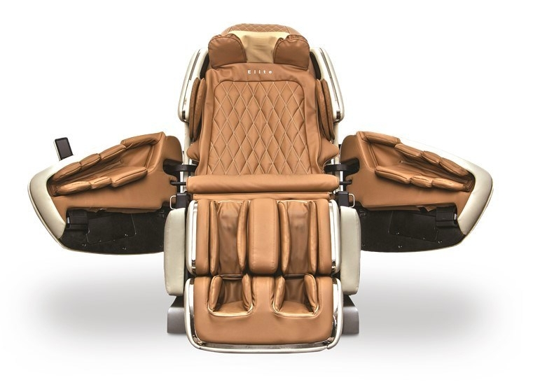 M.8 shiatsu massage chair incorporates rear-swinging doors to deliver a new level of convenience in massage chairs