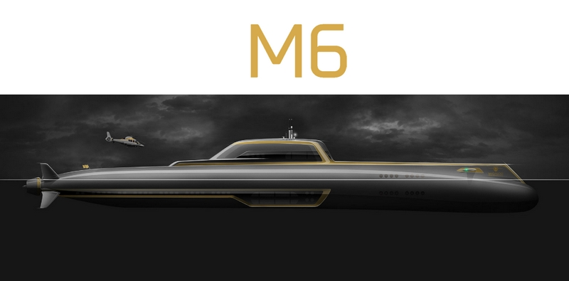 M6 submersible superyacht