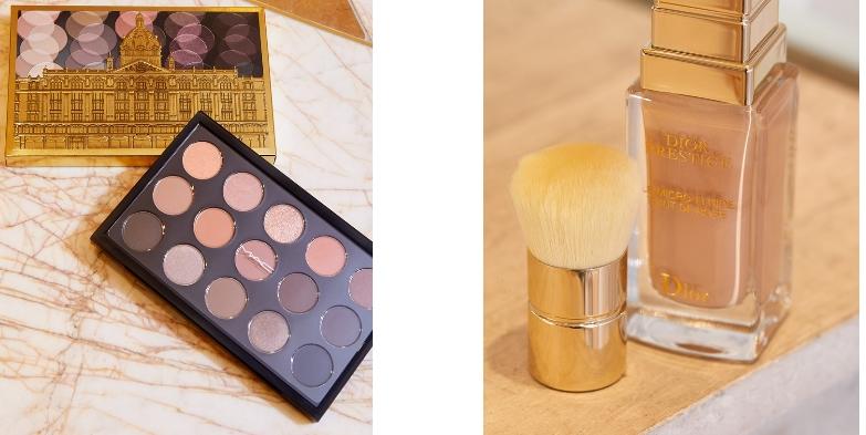 MAC Fashionably Harrods Eye Shadow Palette and DIOR Prestige le Micro-Fluide Teint de Rose