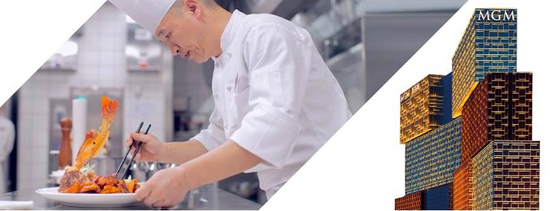MGM Cotai – underpinned by a cluster of celebrity chefs-