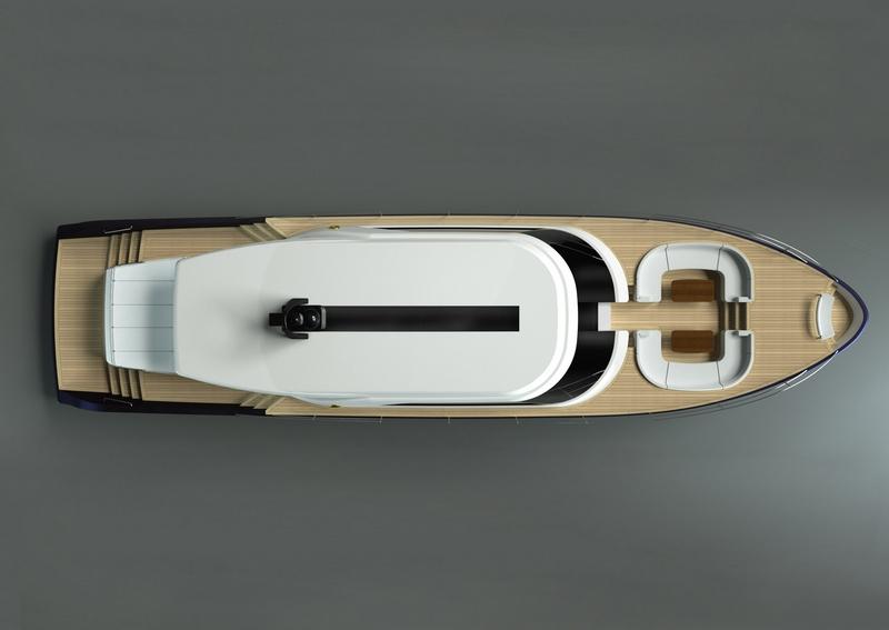 MY 25m Eco-Tender launch by Perini Navi-renderings