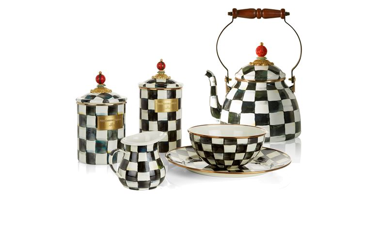MacKenzie-Childs Courtly Check Tableware Range