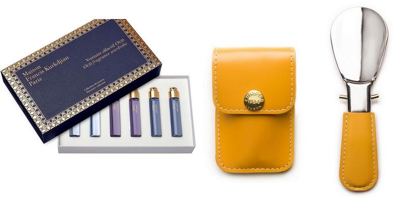 Maison Francis Kurkdjian Oud Mood Eau de Parfum Travel Set and Ettinger Travel Show horn