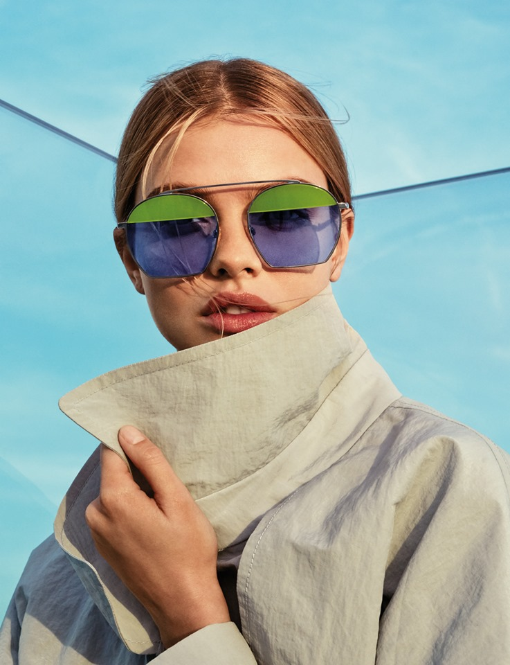 Make a statement in blue and green Spring Summer 2019 EA sunglasses