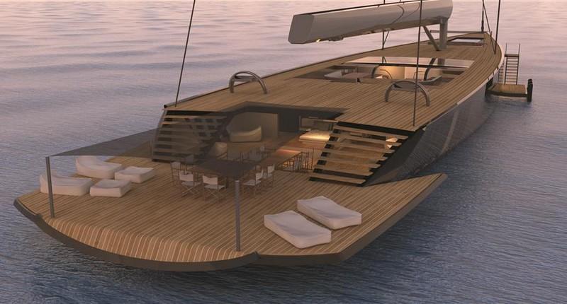 Malcolm McKeon Yacht Design 78m mega sloop details