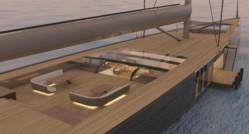 Malcolm McKeon Yacht Design 78m mega sloop