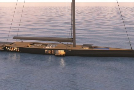 This flush-decked 78m mega sloop by Malcolm McKeon Yacht Design features an array of innovative lifestyle elements