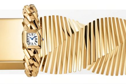 Polished and twisted: The Maillon de Cartier watch is firstly a gold jewel