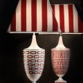 Manifattura Richard Ginori at Salone del Mobile 2016-table-lamps-catene-and-labirinto-in-scarlatto