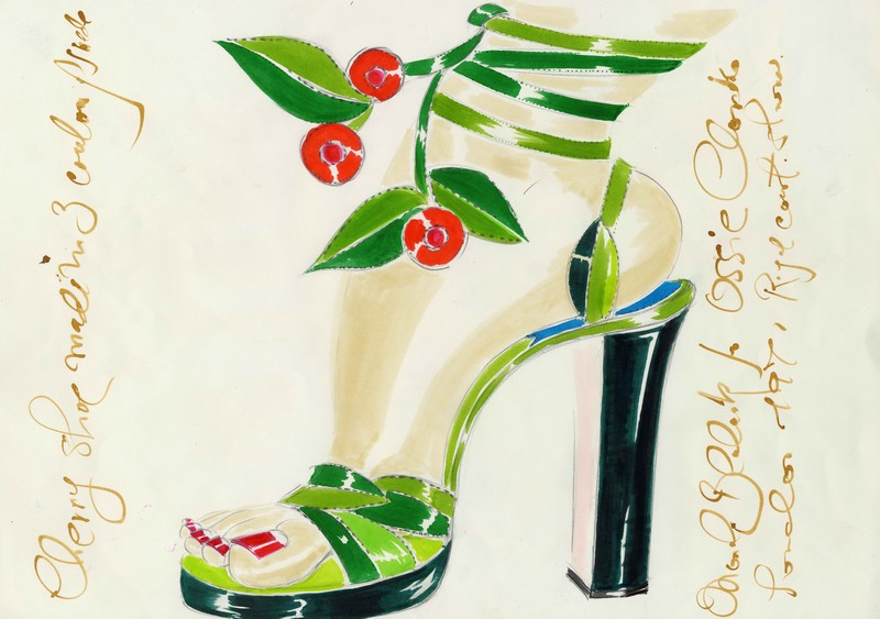 Manolo Blahnik he Art of Shoes sketches 1971_ss_ivy-for-ossie-clark