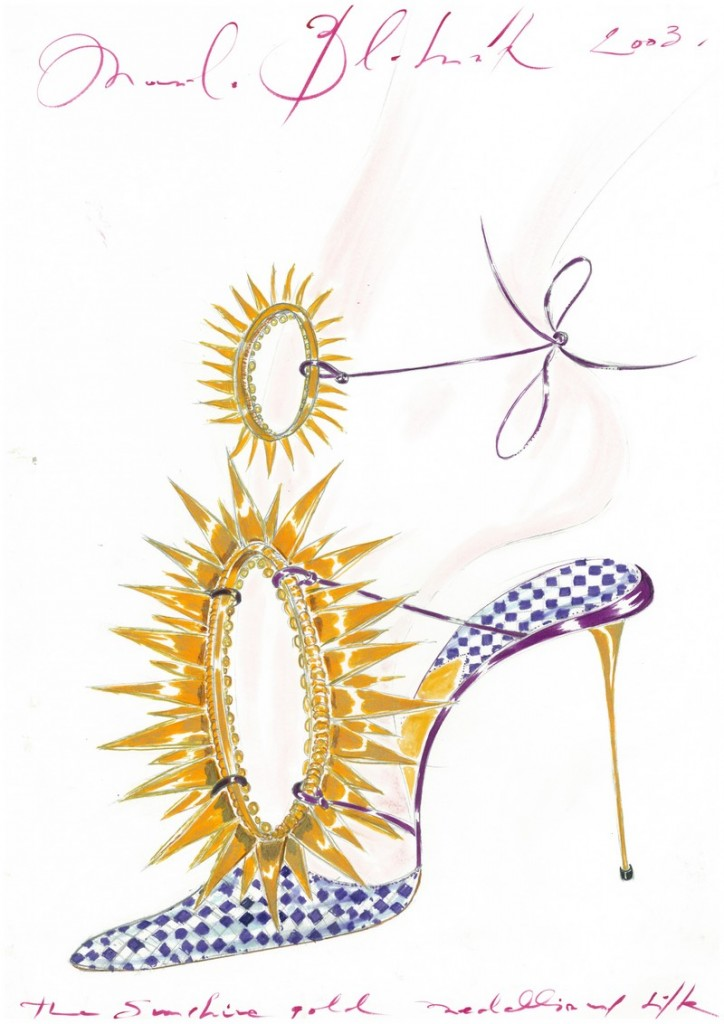 Manolo Blahnik he Art of Shoes sketches