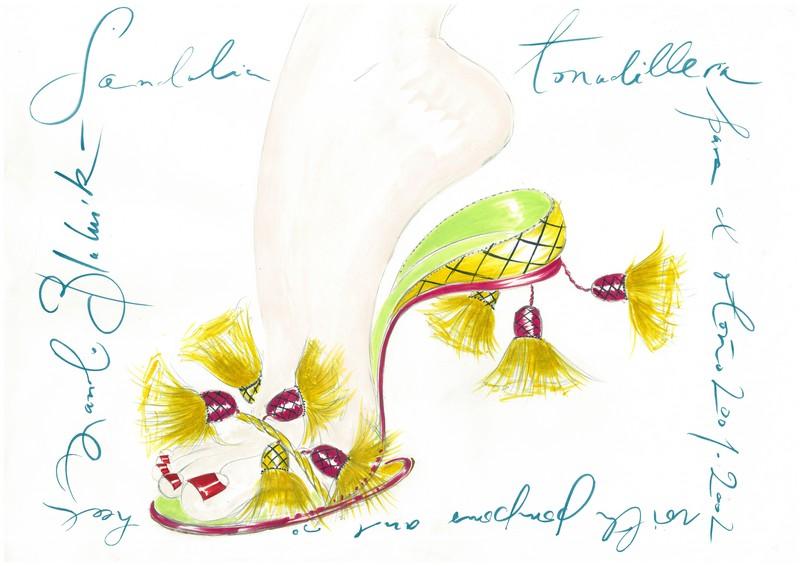Manolo Blahnik he Art of Shoes sketches cadiz