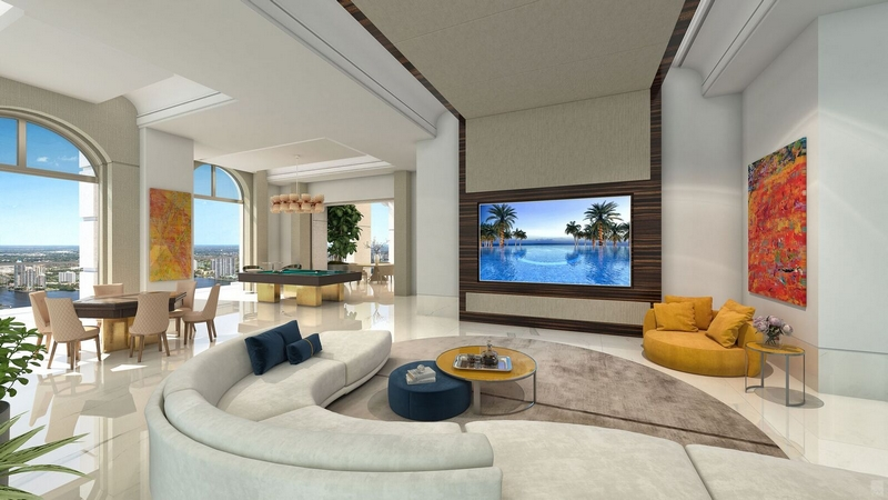 Mansions at Acqualina Family Room