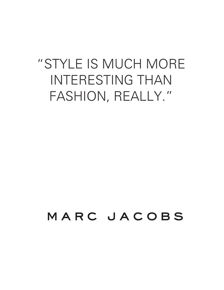 Marc Jacobs about style