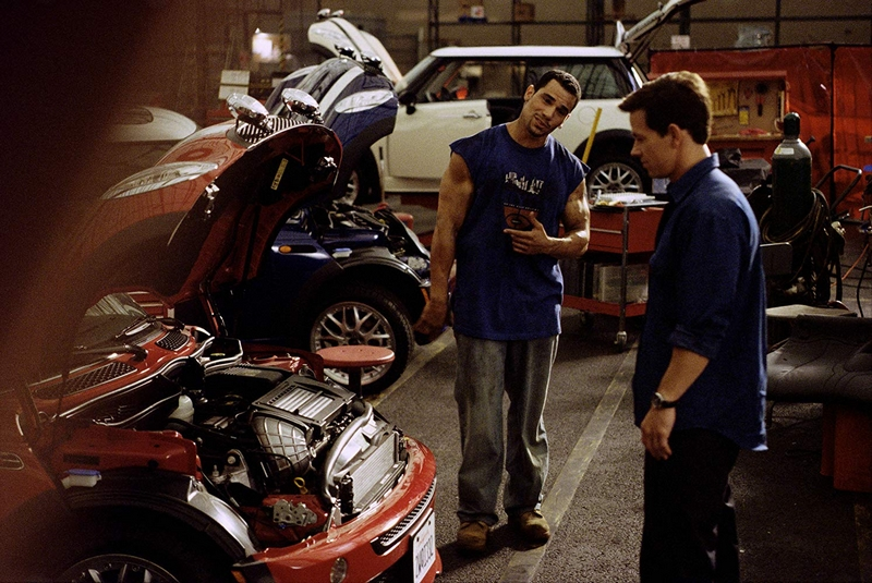 Mark Wahlberg and Franky G in The Italian Job -2003