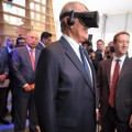 Mark Zuckerberg introduced President Kuczynski of Peru to T-Rex in virtual reality