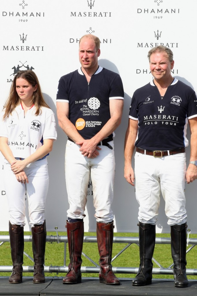 Maserati Polo Tour 2018 - UK - HRH The Duke of Cambridge Antonia Carlsson and Bruce Merivale-Austin