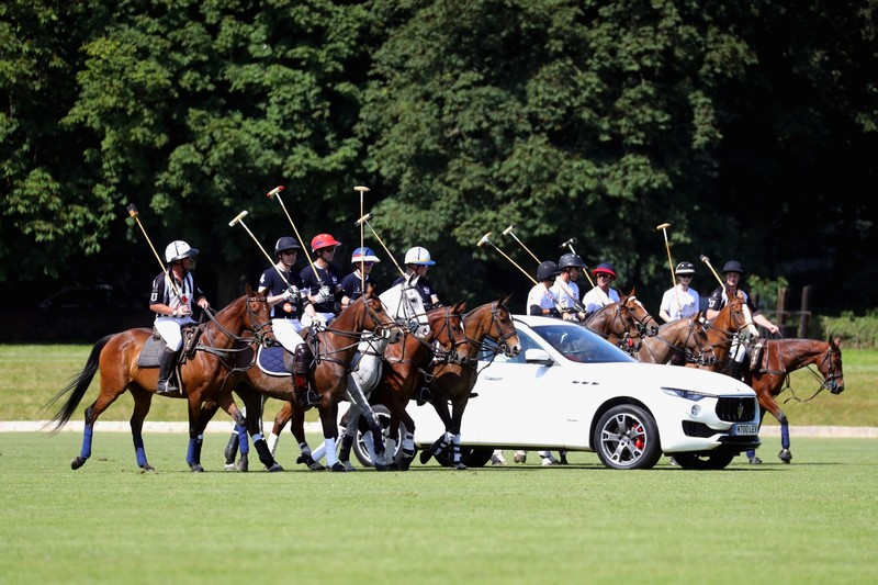 Maserati Polo Tour 2018 - UK - LevanteMaserati Polo Tour 2018 - UK - Levante SUV leads the players on to the field