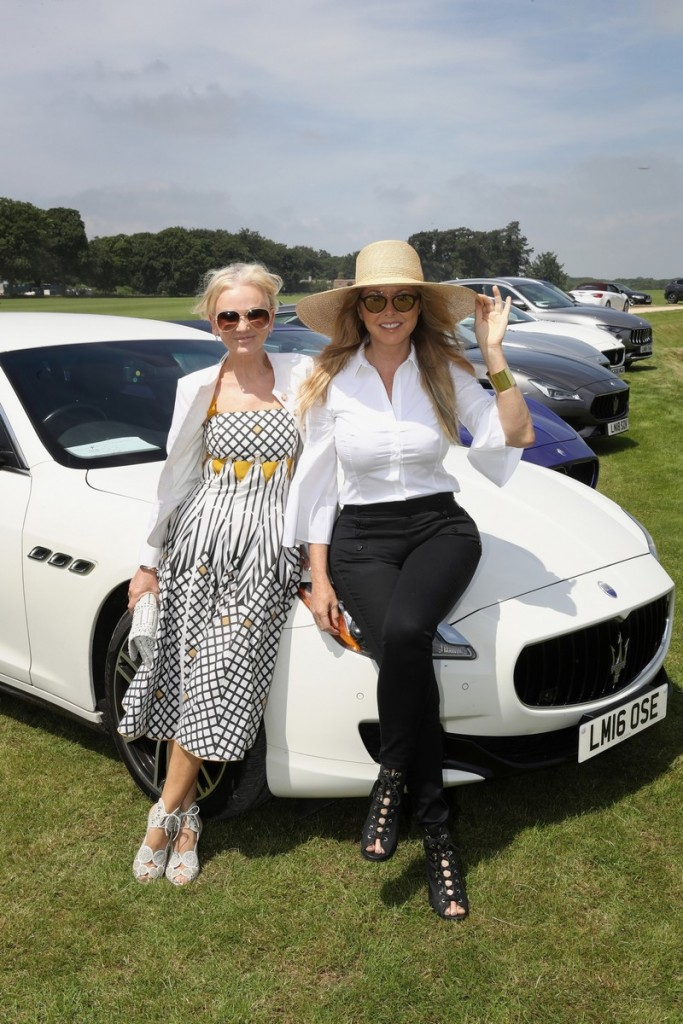 Maserati Polo Tour 2018 - UK - Lisa Maxwell and Carol Vorderman with the Quattroporte