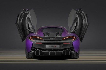 One-off Mauvine Blue 570S showcased by McLaren at 2015 Pebble Beach Concours d'Elegance