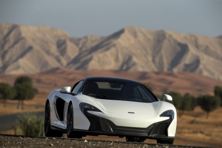 The covers have come off the 650S Spider Al Sahara 79 by MSO, McLaren's first project in the Middle East