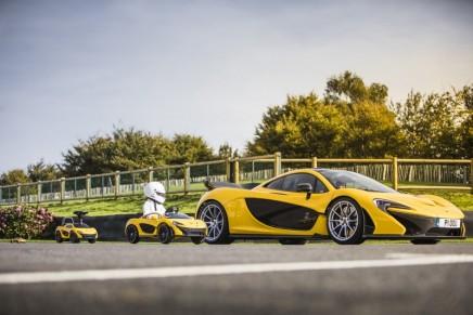 Powered by biscuits: Further Downsized McLaren P1 Embraces Foot Power