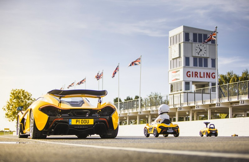 McLaren P1 further downsized; embraces foot power