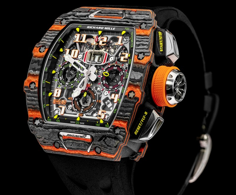 McLaren automotive and Richard Mille have revealed their first jointly-commissioned timepiece