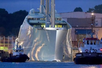 Melnichenko's epic Sailing Yacht A', the world's biggest sailing ship, set on its maiden voyage