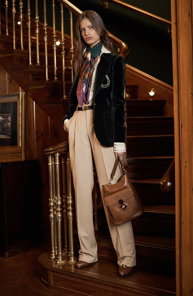 Menswear influence meets feminine ease in Ralph Lauren's Pre-Fall 2017 Collection