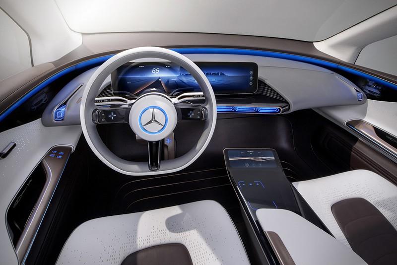 Mercedes-Benz EQ concept vehicle interior