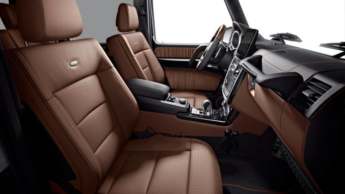 Mercedes-Benz G 350 d Limited Edition, 2017 - designo mocha black metallic; upholstery in saddle brown designo nappa leather