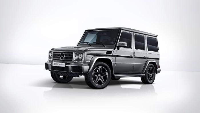 Mercedes-Benz G 500 Limited Edition, 2017 designo platinum magno upholstery in black designo nappa leather