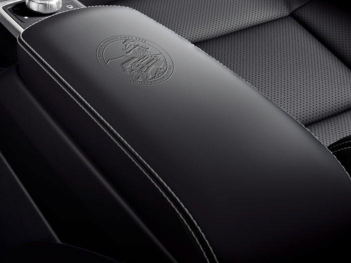 Mercedes-Benz G-Class Limited Edition, 2017 -Schöckl proved since 1979 embossed emblem on the centre armrest